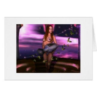 Acuario del ~ del feliz cumpleaños del zodiaco tarjeta de felicitación