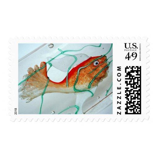 Acuario del Goldfish de los pescados Sello