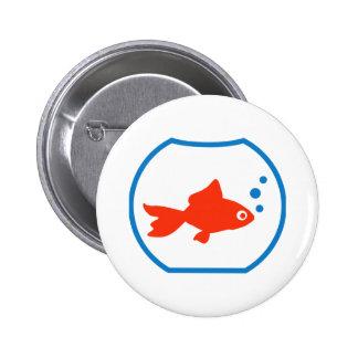Acuario del Goldfish Pin Redondo 5 Cm