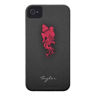Acuario del rojo carmesí iPhone 4 Case-Mate protector