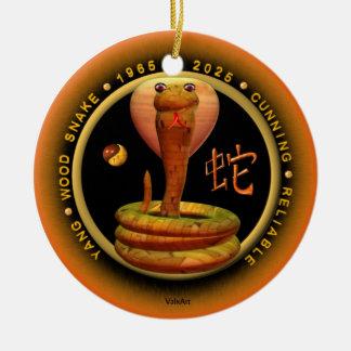 Acuario del zodiaco de la serpiente de madera 2025 ornaments para arbol de navidad