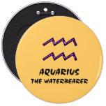 Acuario el botón del waterbearer pins