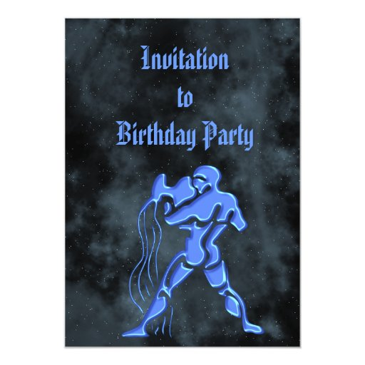 Acuario Invitación Personalizada