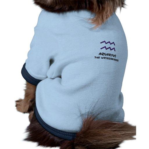 Acuario la camisa del mascota del waterbearer prenda mascota