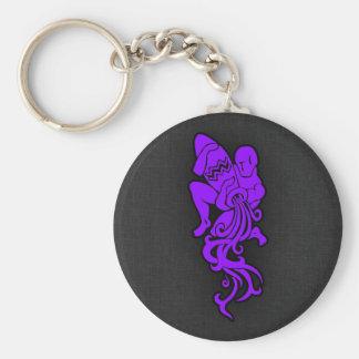 Acuario púrpura violeta llavero personalizado