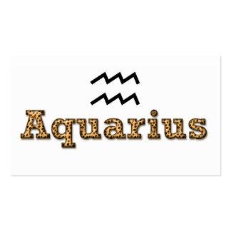 acuario, tarjeta personal