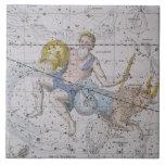 """Acuario y Capricornio, """"de un atlas celestial"""", Azulejo Cuadrado Grande"""