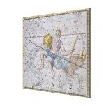 """Acuario y Capricornio, """"de un atlas celestial"""", Impresión En Lienzo"""
