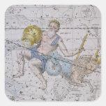 """Acuario y Capricornio, """"de un atlas celestial"""", Calcomania Cuadradas Personalizada"""