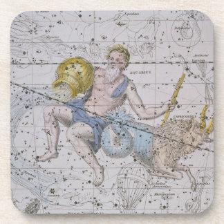 """Acuario y Capricornio, """"de un atlas celestial"""", Posavasos De Bebida"""
