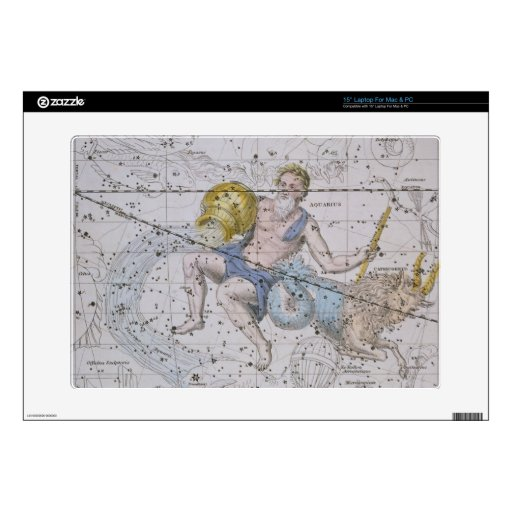 """Acuario y Capricornio, """"de un atlas celestial"""", Skins Para 38,1cm Portátil"""