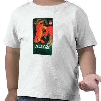 Acuario y poster promocional del parque municipal camisetas
