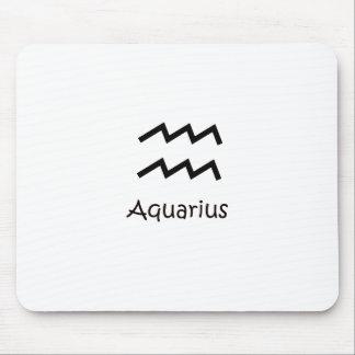 Acuario zodiaco 20 de enero blanco - 18 de febrero alfombrilla de ratón