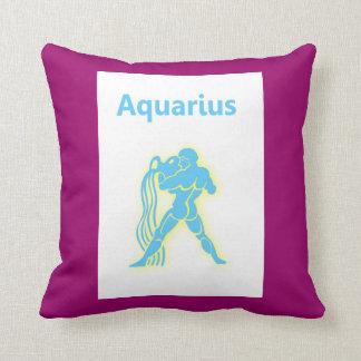 Acuario zodiaco muestra 20 de enero - 18 de febrer almohada