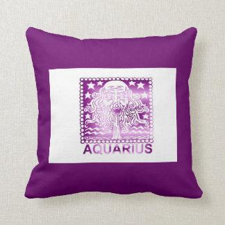 Acuario zodiaco muestra 20 de enero - 18 de febrer almohadas