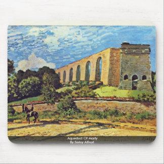 Acueducto de margoso por Sisley Alfred Alfombrilla De Raton
