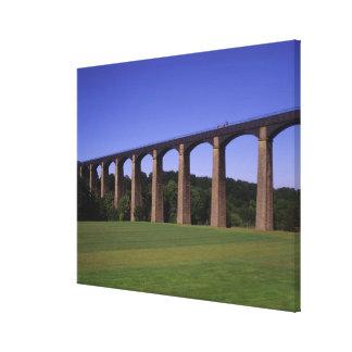 Acueducto del canal de la unión de Shropshire Pon Impresiones En Lona
