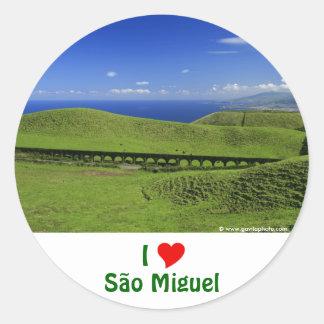Acueducto - islas de Azores Pegatina Redonda