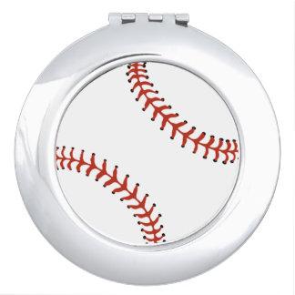 Acuerdo del diseño del béisbol del softball espejos maquillaje