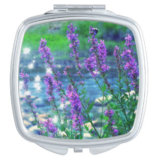 Acuerdo púrpura del espejo de la abeja de los espejo de viaje