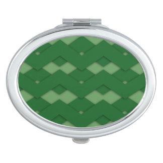Acuerdo verde del zigzag espejo de viaje