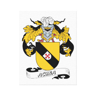 Acuna Family Crest Canvas Print