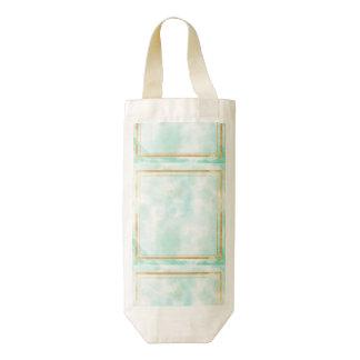 acuñe el color de agua, modelo cuadrado de muy bolsa para botella de vino zazzle HEART