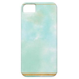 acuñe el color de agua, modelo cuadrado de muy funda para iPhone SE/5/5s