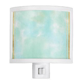 acuñe el color de agua, modelo cuadrado de muy lámpara de noche