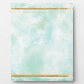 acuñe el color de agua, modelo cuadrado de muy placa para mostrar
