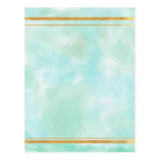 acuñe el color de agua, modelo cuadrado de muy tarjeta postal