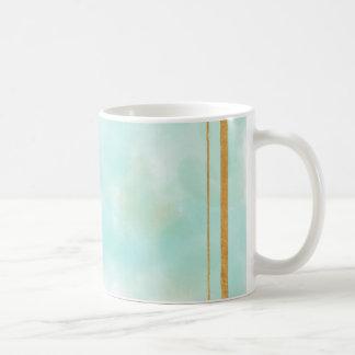acuñe el color de agua, modelo cuadrado de muy taza clásica