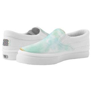 acuñe el color de agua, modelo cuadrado de muy zapatillas