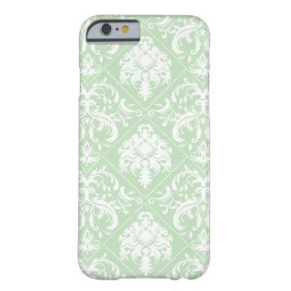Acuñe el damasco verde y blanco del helado del funda de iPhone 6 slim