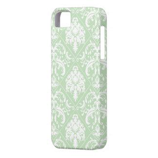 Acuñe el damasco verde y blanco del helado del iPhone 5 carcasa