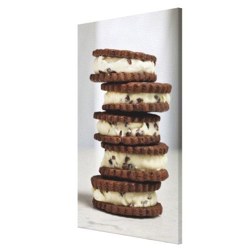acuñe el helado de la semilla de cacao con las gal impresion de lienzo