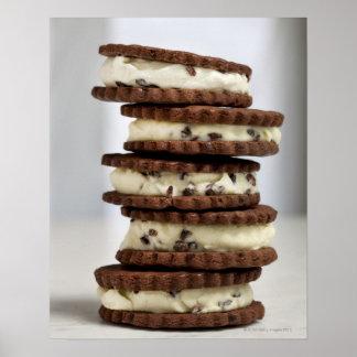 acuñe el helado de la semilla de cacao con las gal impresiones
