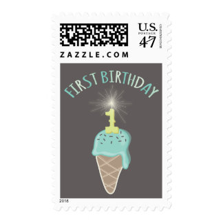 Acuñe fiesta de cumpleaños del muchacho del timbres postales