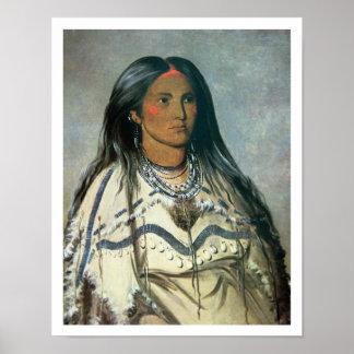 """""""Acuñe"""", un chica indio de Mandan, 1832 (el litho  Impresiones"""