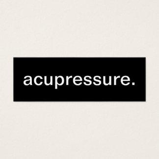 Acupressure Business Card