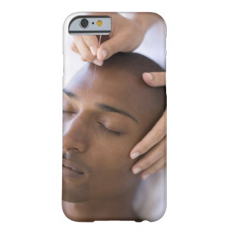 Acupuncture. Acupuncturist inserting a needle Barely There iPhone 6 Case