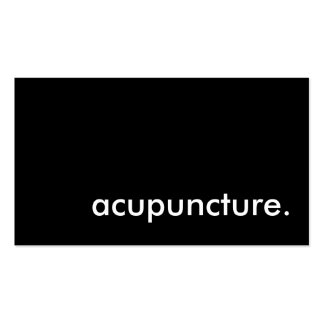 acupuncture. business card