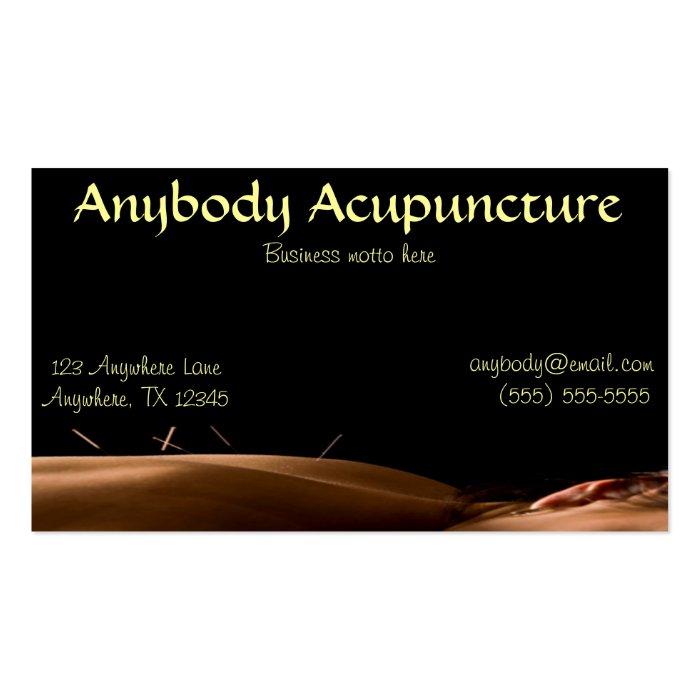 acupuncture business card zazzle