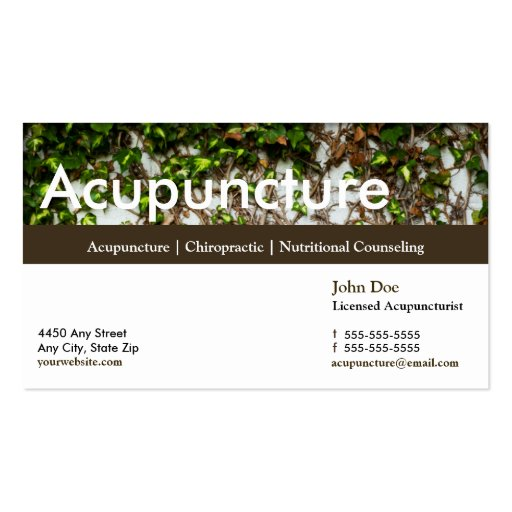 Acupuncture business card appointment card zazzle for Acupuncture business cards