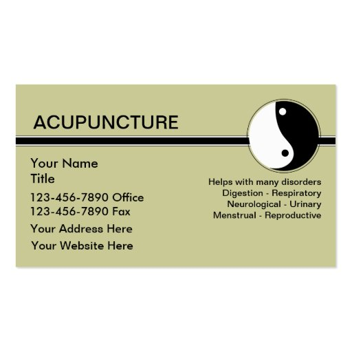 Acupuncture business cards zazzle for Acupuncture business cards