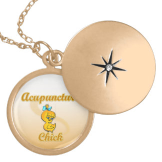 Acupuncture Chick Locket Necklace