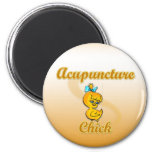 Acupuncture Chick Refrigerator Magnets