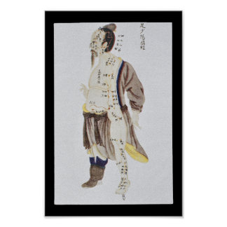 Acupuncture Gall Bladder Meridian Foot Shaoyang Poster