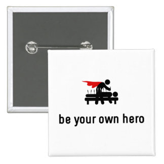 Acupuncture Hero Pinback Button