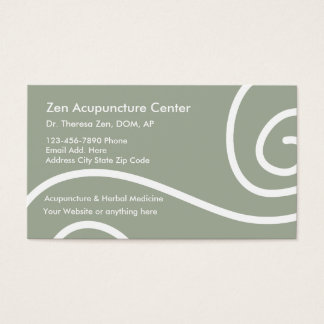 Acupuncture Medical Business Cards